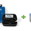 The BeHear NOW + HearLink Bundle includes one headset and one assistive listening transmitter.
