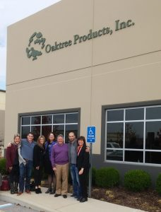 Oaktree and Alango staff outside the former's headquarters in Chesterfield, Missouri.